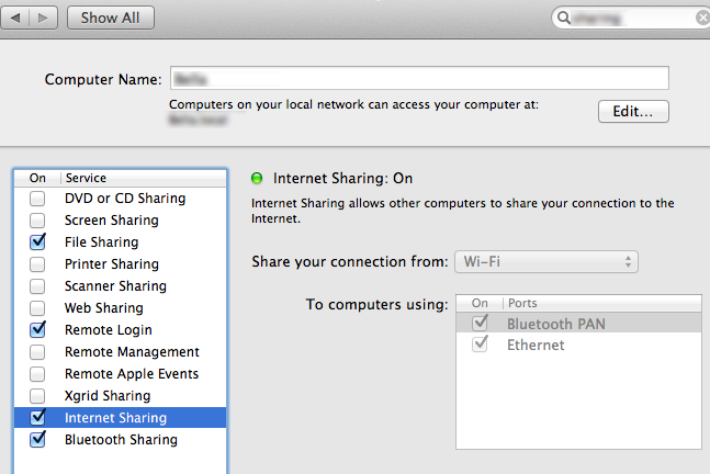 LEMS: How to share your internet connection over Bluetooth